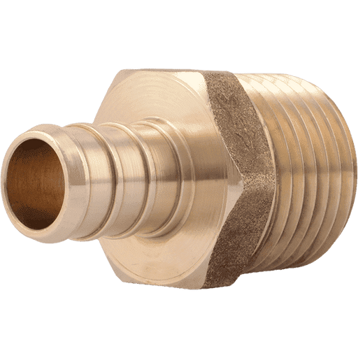 "SharkBite UC120LF 1/2"" x 1/2"" MNPT Brass PEX Crimp Male Connector - Edmondson Supply"
