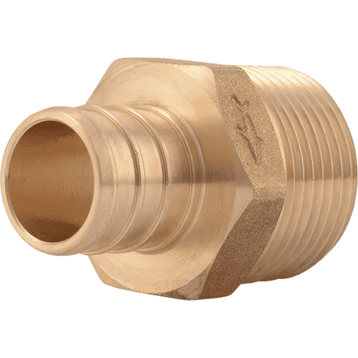 "SharkBite UC134LF 3/4"" x 3/4"" MNPT Brass PEX Crimp Male Connector - Edmondson Supply"