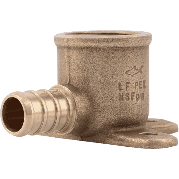"SharkBite UC334LF 1/2"" x 1/2"" Brass PEX Crimp Drop-Ear Elbow - Edmondson Supply"
