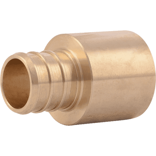 "SharkBite UC606LF 3/4"" x 3/4"" Female Brass PEX Crimp Sweat Adapter - Edmondson Supply"