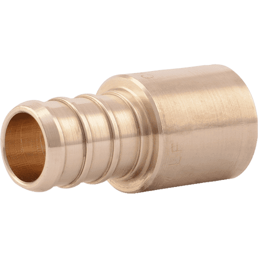 "SharkBite UC607LF 1/2"" x 1/2"" Male Brass PEX Crimp Sweat Adapter - Edmondson Supply"