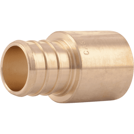 "SharkBite UC608LF 3/4"" x 3/4"" Male Brass PEX Crimp Sweat Adapter - Edmondson Supply"