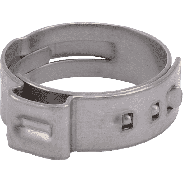 "SharkBite UC955 3/4"" PEX Stainless Steel Clamp Ring - 100 Count - Edmondson Supply"