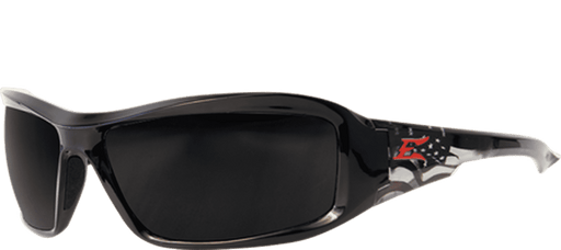 Edge Eyewear XB116-P1 Brazeau Patriot 1 - Black & American Flag/Smoke - Edmondson Supply