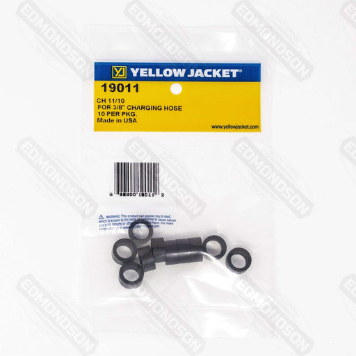 "Yellow Jacket 19011 3/8"" Replacement Gasket for Refrigeration Hoses - 10-Pack - Edmondson Supply"