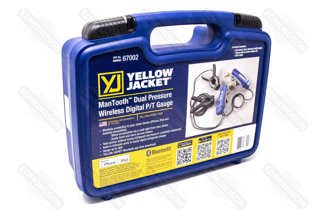 Yellow Jacket 67002 ManTooth™ Dual Pressure Wireless Digital P/T Gauge - Edmondson Supply
