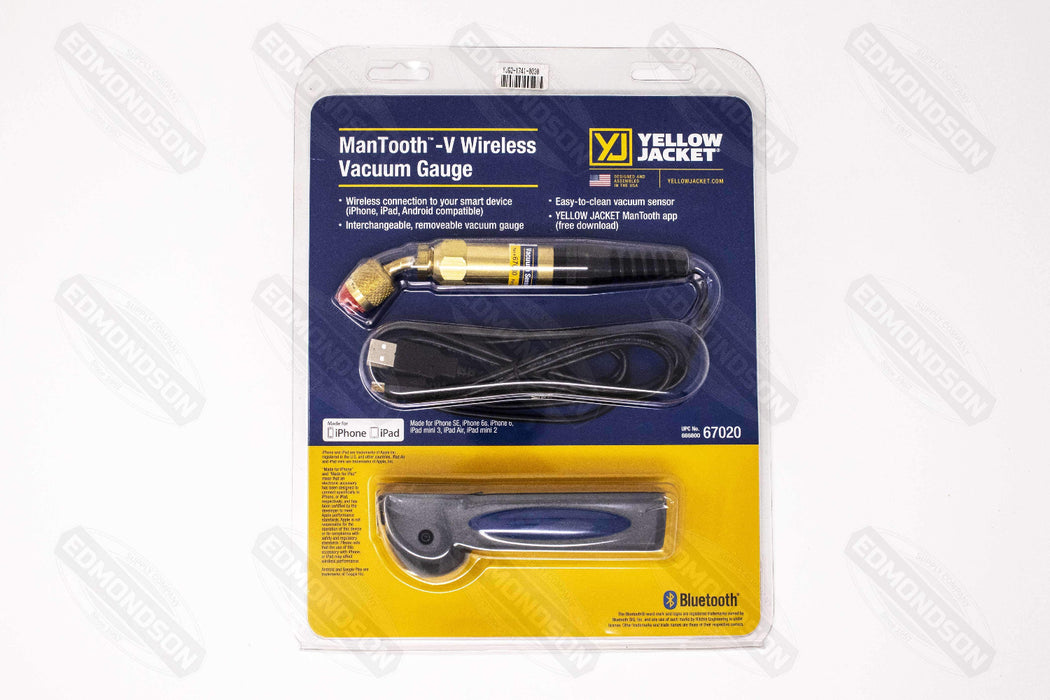 Yellow Jacket 67020 ManTooth™ - V (Vacuum Only) Wireless Vacuum Gauge - Edmondson Supply
