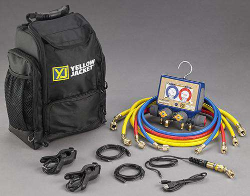 Yellow Jacket 40870 P51-870 TITAN™ Digital Manifold Kit w/Hoses and Backpack - Edmondson Supply