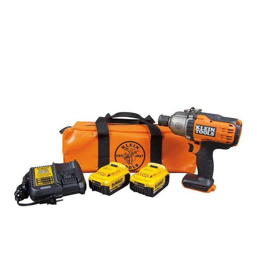 "Klein Tools BAT20-7161 Battery-Operated Impact Wrench Kit, 7/16"", DeWalt 20V - Edmondson Supply"