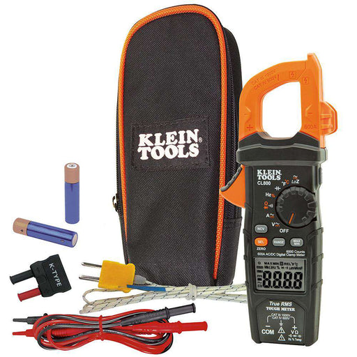 Klein Tools CL800 Digital Clamp Meter, AC/DC Auto-Ranging, 600A, TRMS - Edmondson Supply