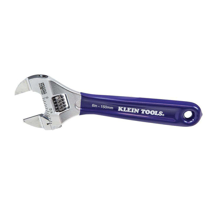 Klein Tools D86934 Slim-Jaw Adjustable Wrench, 6-Inch - Edmondson Supply