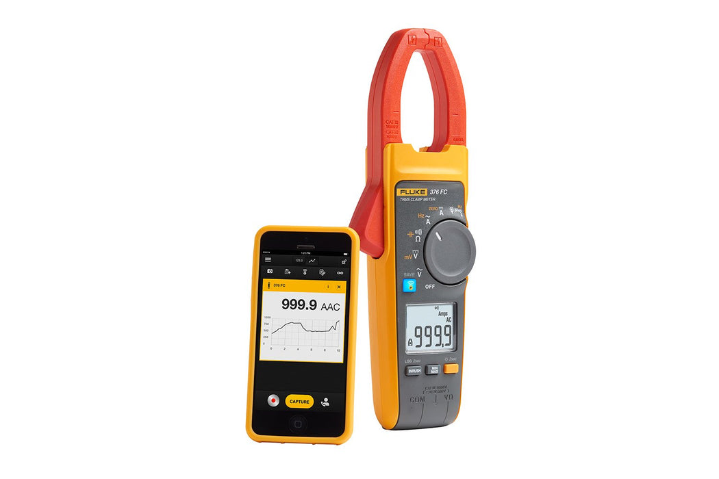 Fluke 376 FC Wireless True-RMS AC/DC Clamp Meter with iFlex