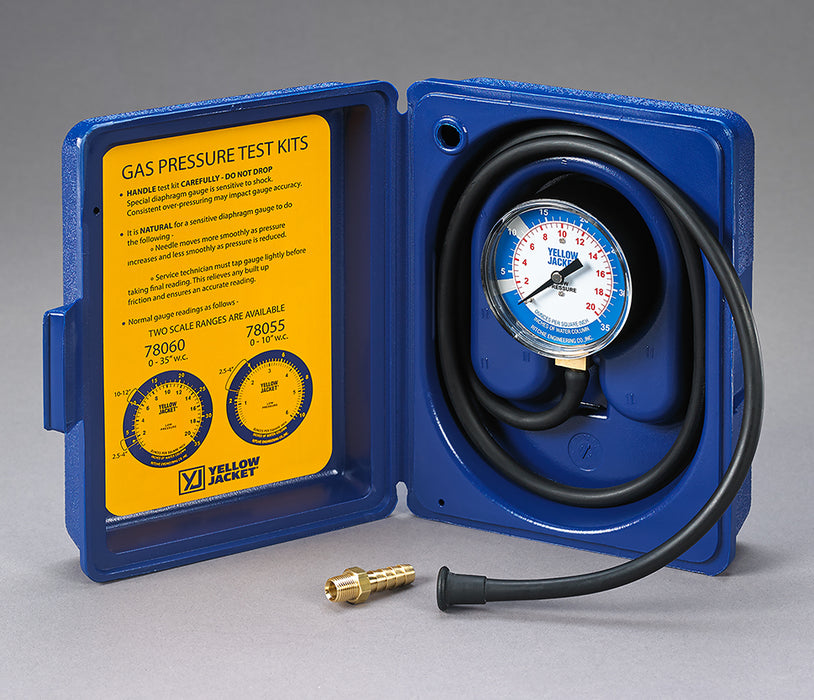 "Yellow Jacket 78060 Gas Pressure Test Kit - 0-35"" W.C."