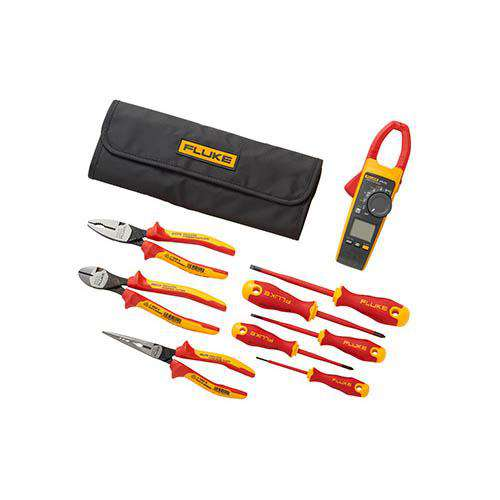 Fluke IB376K Wireless True-RMS AC/DC Clamp Meter (376 FC) with Insulated Hand Tools Starter Kit