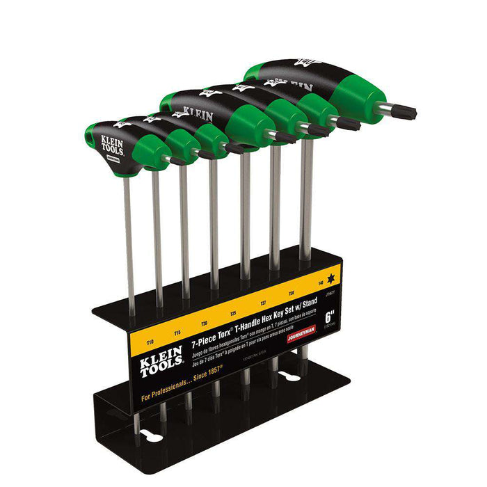 Klein Tools JTH67T TORX T-Handle Hex Key Set and Stand, 6-Inch, 7-Pc - Edmondson Supply