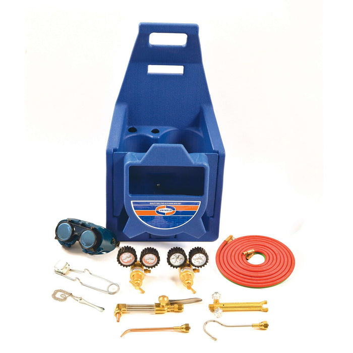 Uniweld KLCHP Cap'n Hook® Oxyacetylene Premium Cutting, Welding & Brazing Outfit w/ 511 Plastic Carrying Stand