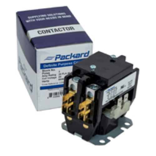 Packard C225B Contactor 2 Pole 25 Amps 120 Coil Voltage