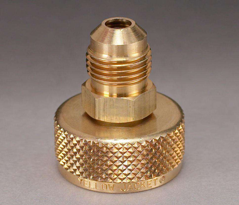 "Ritchie Yellow Jacket 19105 3/4"" NPS Cylinder Valve Adapter with 1/4"" Male Flare - Edmondson Supply"