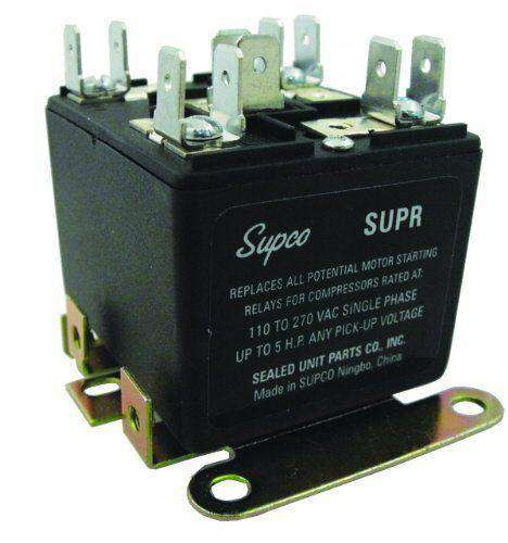 Supco SUPR Universal Potential Relay, 110-270V Single Phase - Edmondson Supply