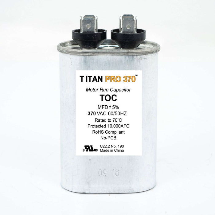 Packard Titan PRO TOC30 Motor Run Capacitor 30 MFD 370 Volt Oval - Edmondson Supply