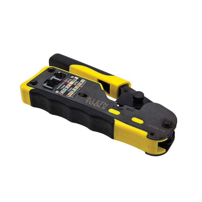 Klein Tools VDV226-110 Ratcheting Pass-Thru™ Modular Crimper - Edmondson Supply