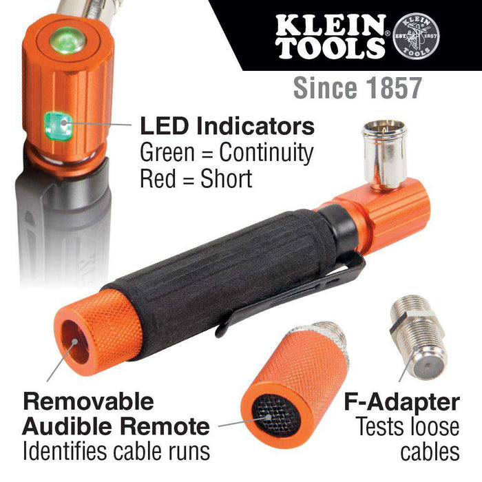 Klein Tools VDV512-007 Pocket Continuity Tester for Coax Cable - Edmondson Supply