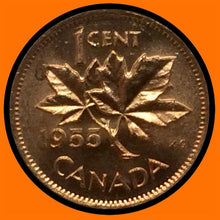 1955 Canada Small One Cent Elizabeth II- lot # A15