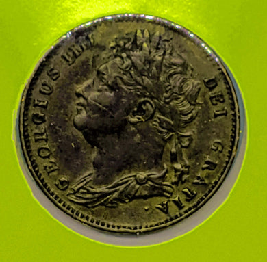 1825 Great Britain Farthing Georgius IIII KM 677
