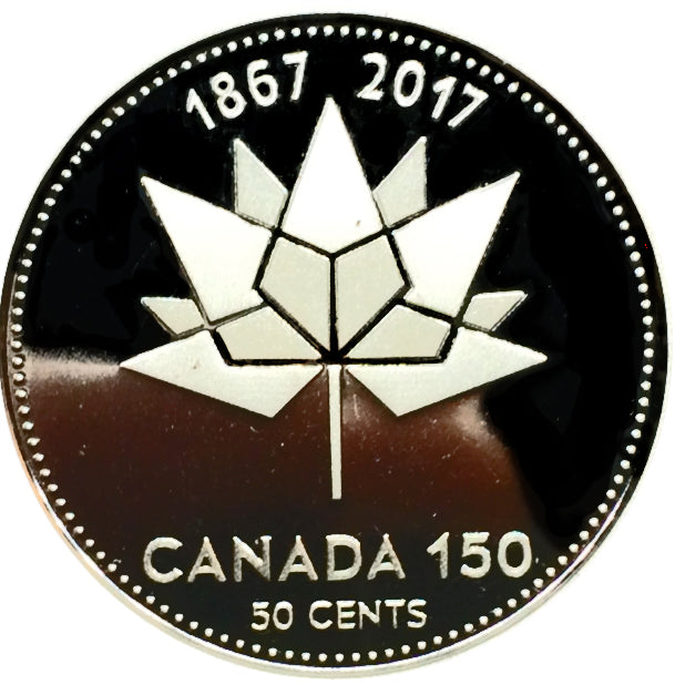 2017 Canada Fifty Cents Silver proof Heavy cameo 150th Anniversary of Canada