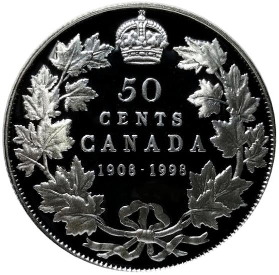 1998 1908 Canada Sterling Fifty Cents Mirror Proof- 50 Cents