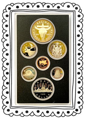 1982 Proof Set-Regina Centennial-Skull