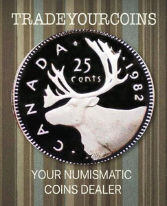 1982 Canada Nickel Quarter Proof Caribou - 25 Cents
