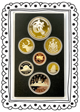1983 Proof Set-World University-Games