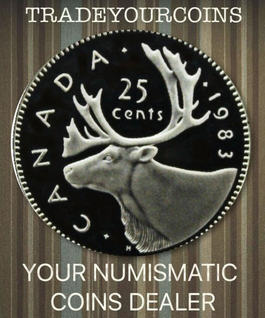 1983 Canada Nickel Quarter Proof Caribou - 25 Cents