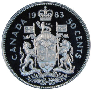 1983 Canada Fifty Cents Nickel proof Heavy cameo