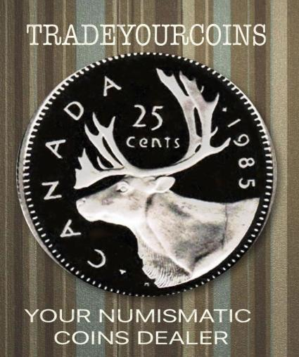 1985 Canada Nickel Quarter Proof Caribou - 25 Cents
