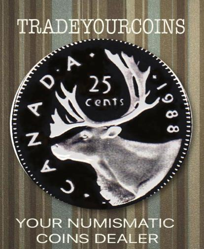 1988 Canada Nickel Quarter Proof Caribou - 25 Cents