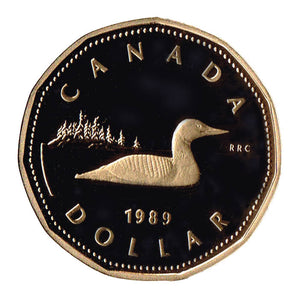 1989 Canada Proof Loonie Dollar