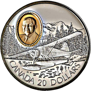 1991 Canada 20$ De Havilland Beaver-Aviation commemoratives Series one, Coin # 4