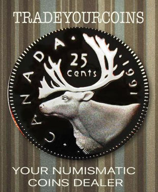 1991 Canada Nickel Quarter Proof Caribou - 25 Cents