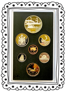1991 Proof Set-175th Anniversary of the Frontenac