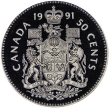 1991 Canada Fifty Cents Nickel proof Heavy cameo