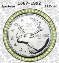 1992 Canada Nickel Quarter Specimen Caribou - 25 Cents