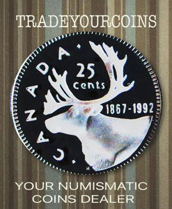 1992 Canada Nickel Quarter Proof Caribou - 25 Cents