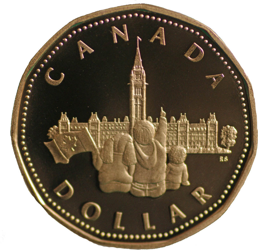 1992 Canada Proof Loonie Dollar-Commemorative Parliament