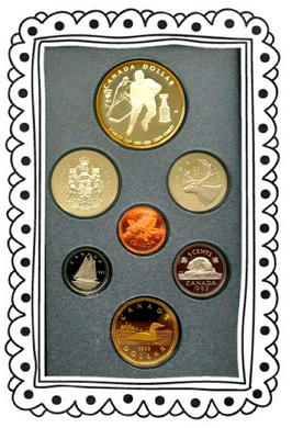 1993 Proof Set-100th Anniversary Stanley Cup