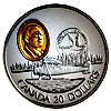 1993 Canada 20$ Fairchild 71C-Aviation commemoratives Series one, Coin # 7