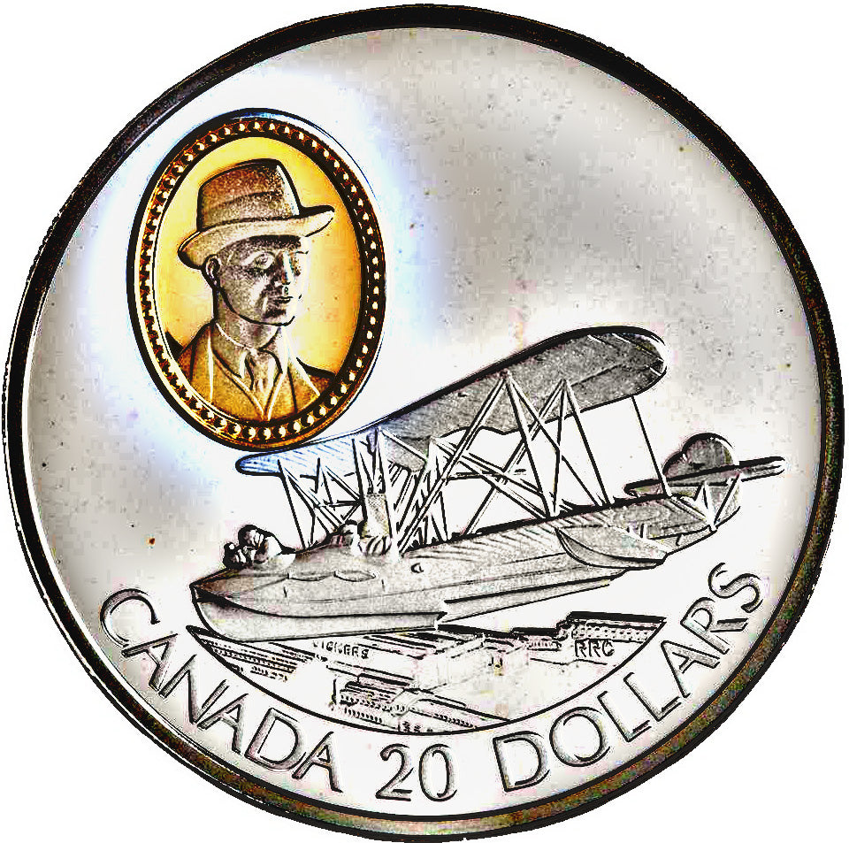 1994 Canada 20$ Canadian Vickers Vedette-Aviation commemoratives Series one, Coin # 10