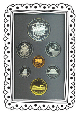 1994 Proof Set-R.C.M.P. Northern Dog