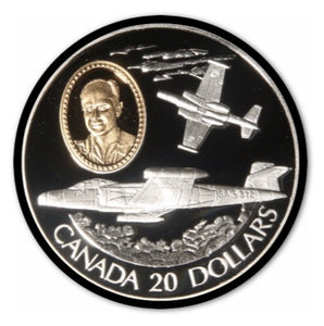 1996 Canada 20$ Avro Canada CF-100 Canuck-Aviation commemoratives Series two, Coin # 3